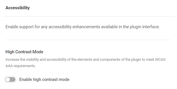 Accessibility options in Hustle