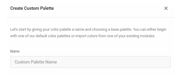 Custom color palette name in Hustle settings