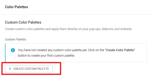 Create custom color palettes to use in any Hustle module