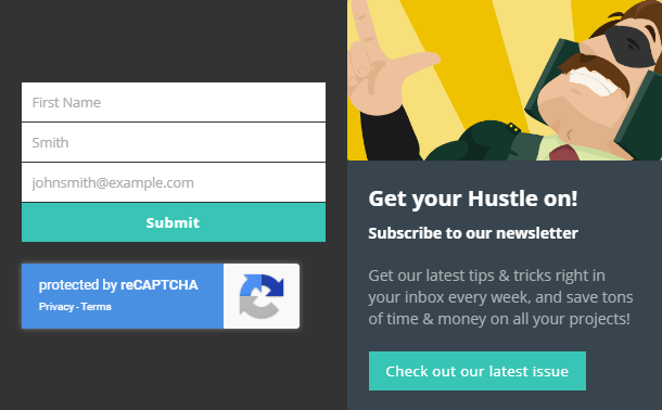 Google reCaptcha in Hustle opt-in