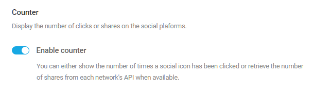 Enable share counter in Hustle social sharing module