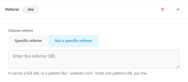 Referrer visibility condition in Hustle modules