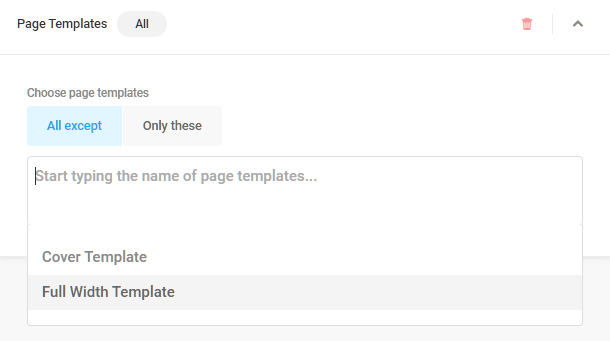 Page template visibility condition in Hustle modules