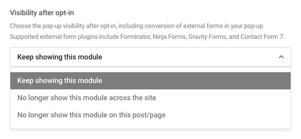 Visibility after opt-in