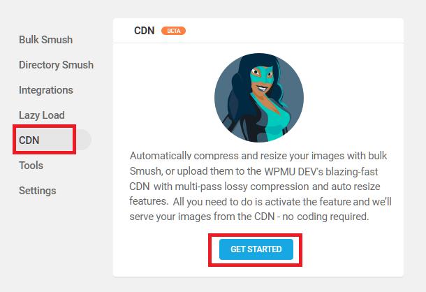 Enable Smush CDN