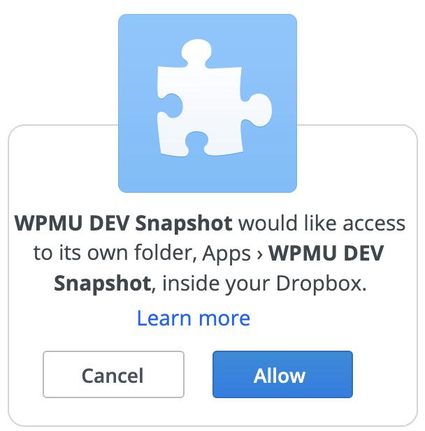 Dropbox authorization code provided