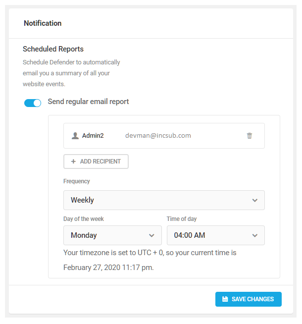 Schedule audit logging reports in Defender