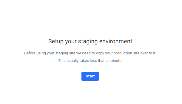 setup staging environment