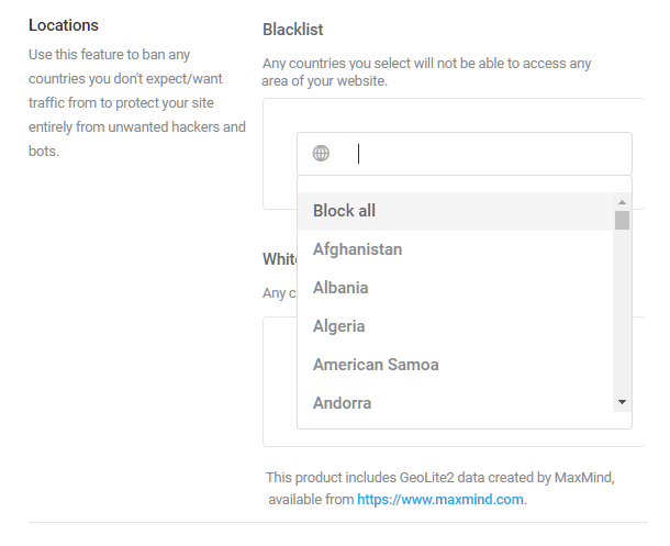 Location banning blacklist in Defender firewall