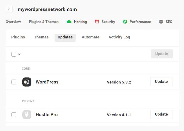 Hub 2.0 Uptime module