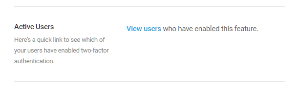 View users who have activated 2FA
