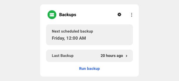 Backups module