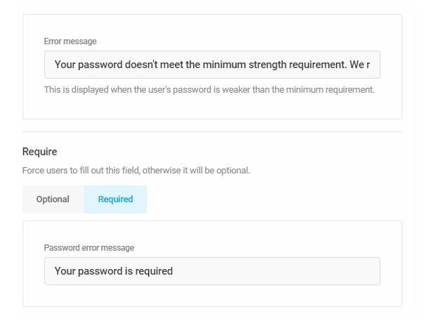 Customize error messages in Forminator registration form
