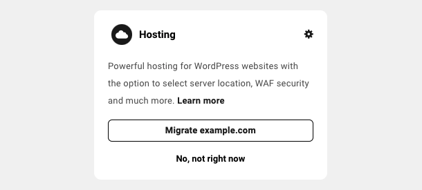 Hosting module (3rd party)