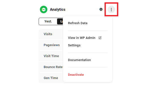 Hub site overview analytics module options