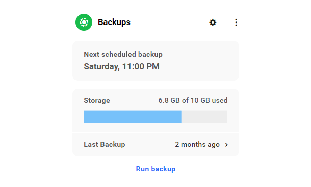 Hub site overview Snapshot backups module