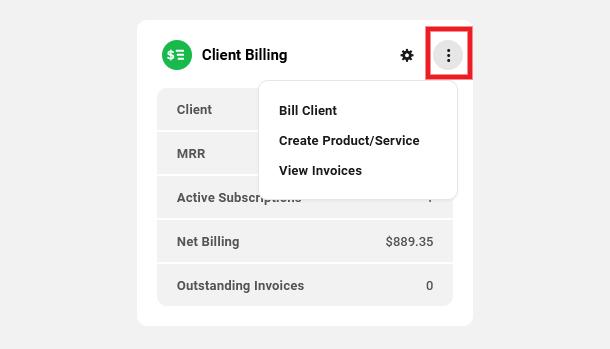 Client Billing module options