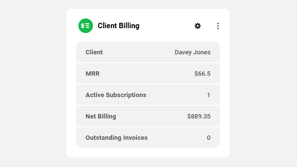 Client Billing module