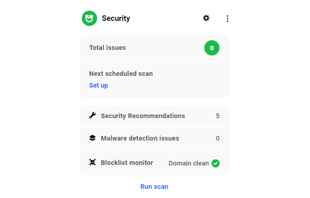 Hub site overview security module