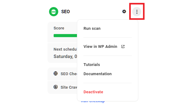 Hub site overview SEO module options
