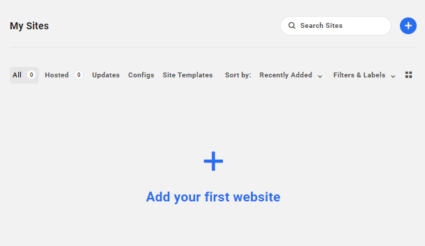 Add your first site to the Hub