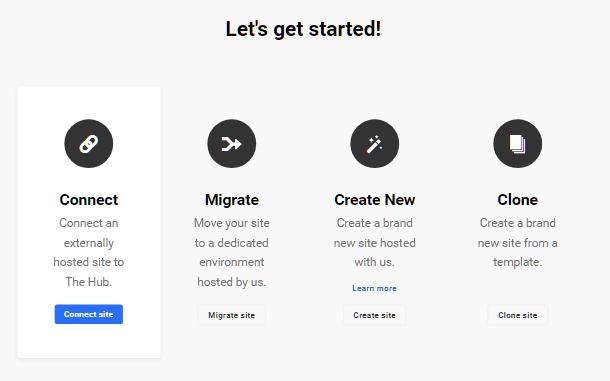 Hub2 select site connection method