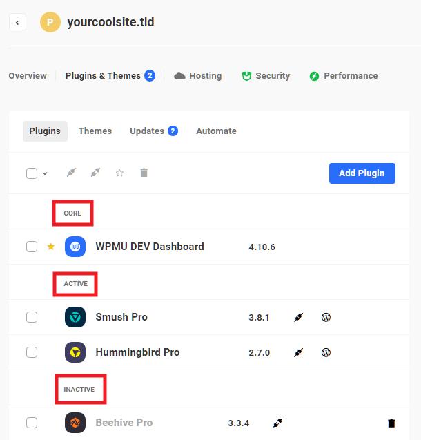 Hub2 plugins updates