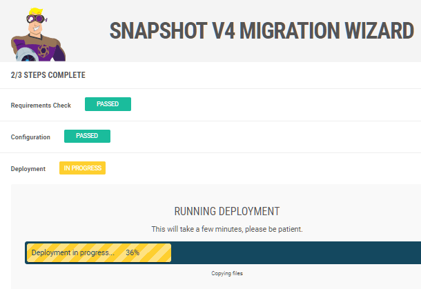 Snapshot installer deployment step