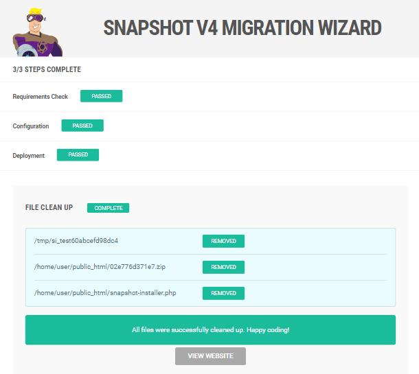 Snapshot installer cleanup done