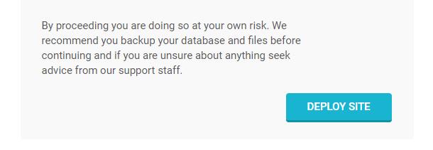 Snapshot installer deploy site