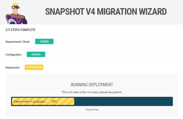 Snapshot installer deployment progress