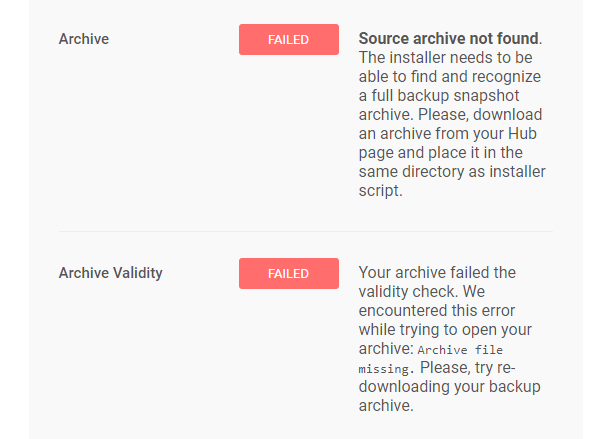 Snapshot installer requirements errors