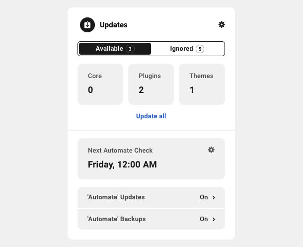 Updates module