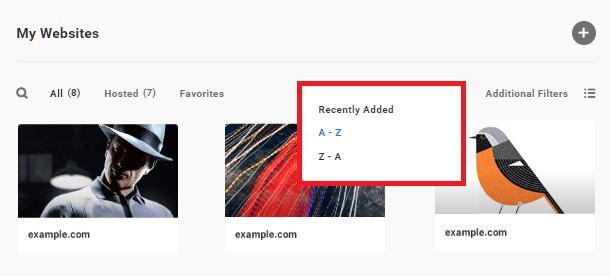 Hub 2.0 Recently added sites
