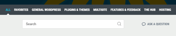WPMU DEV Support Forum search field