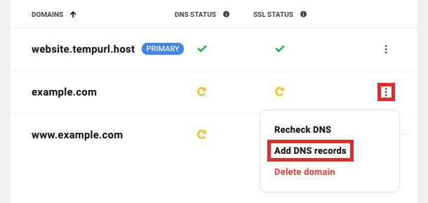 Add DNS record