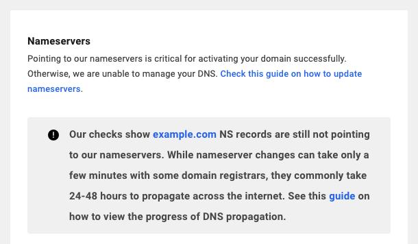 DNS not propagating
