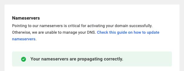 DNS propagating