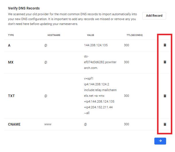 DNS Record Information