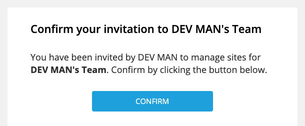Your business name will appear in invitation emails