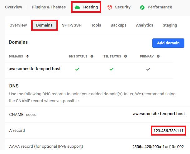 locating a wpmudev site dns records
