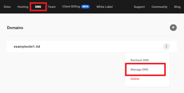 Hub2 DNS manager add record