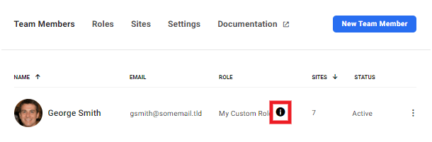 Access to all sites indicator in Hub team list