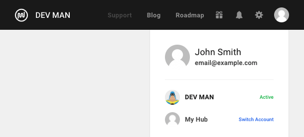 Your business name and logo will appear in the Hub 2.0 interface