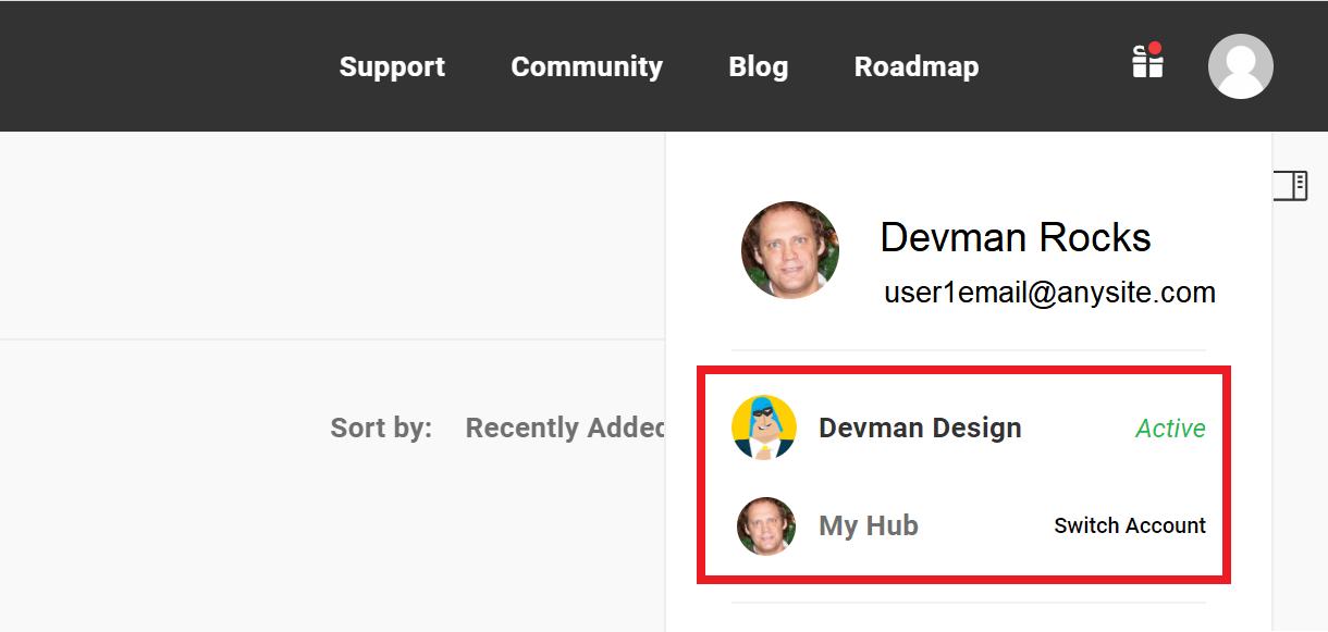 hub user profile