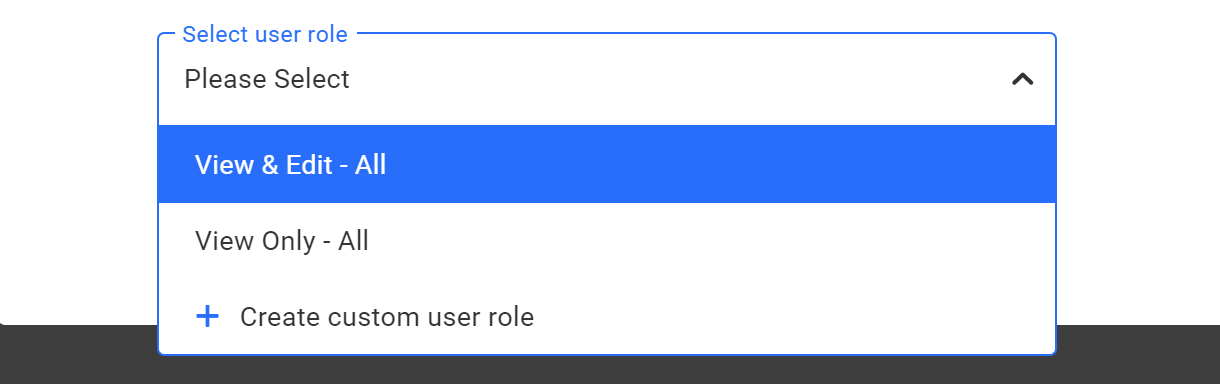users and roles custom