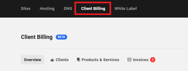 Allows the user to access and view all data in the main Client Billing area.