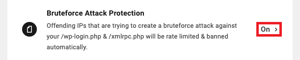 Allows the user to update bruteforce attack protection settings for a site.