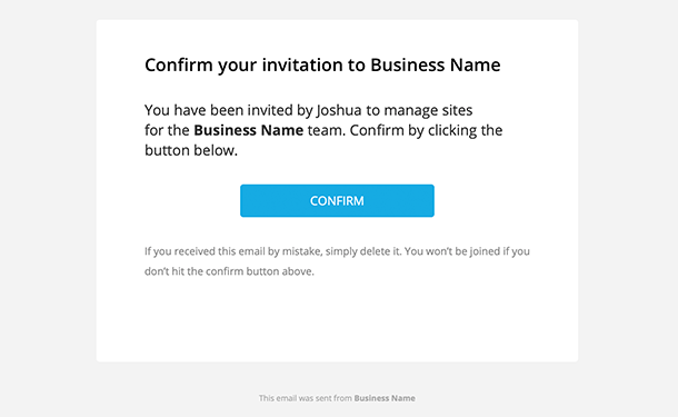 Add Users Confirmation Email