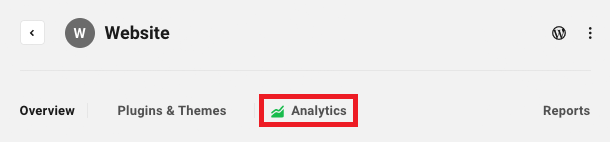 Allows the user to access a site's Analytics module.